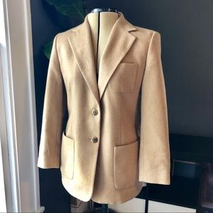 Talbots 100% camel hair blazer coat